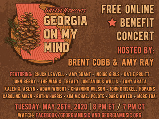 """""""GEORGIA ON MY MIND"""" A ONE-TIME ONLINE CONCERT CELEBRATING THE PEACH STATE AND BENEFITINGTHE GEORGIA"""