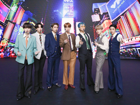 """KPop Group BTS Performed From South Korea for MTV's 2020 VMA """"Dynamite"""" Debut"""