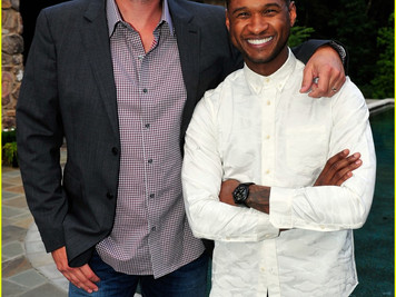 Blake Shelton at Usher's New Look Foundation Kickoff Event