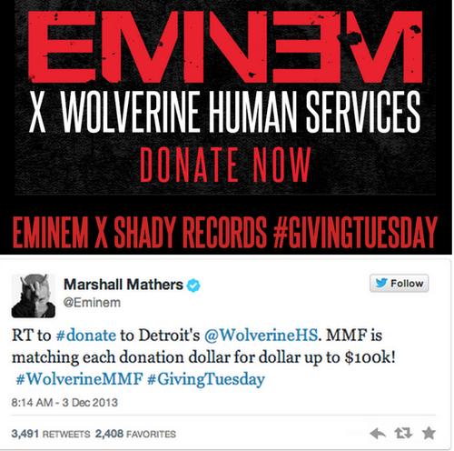 Eminem Gives Back to Michigan