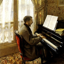 Gustave Caillebotte-Jeune homme au piano