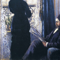 Gustave Caillebotte-interior woman at the window