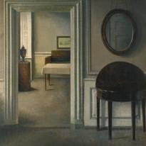 Vilhelm Hammershoi-Interior with a mirror