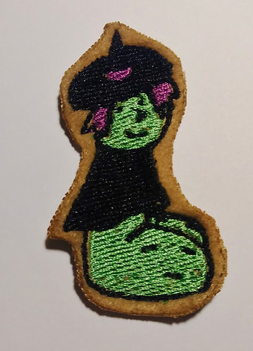 Halloweenie witch patch