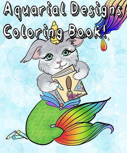 Aquarial Designs Coloring book!