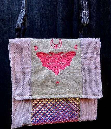 Pink death moth bag