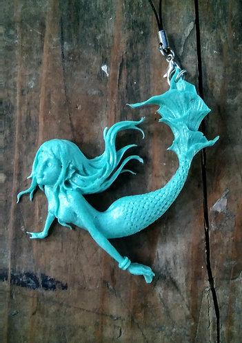 turquoise mermaid charm