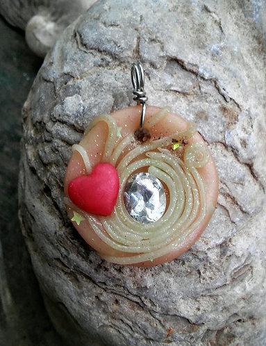 Topaz heart pendant