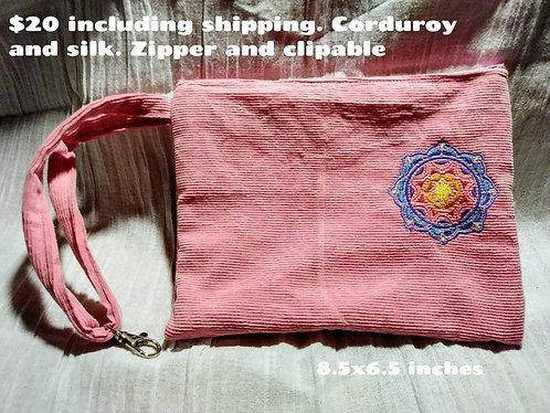 Pink mandala clutch