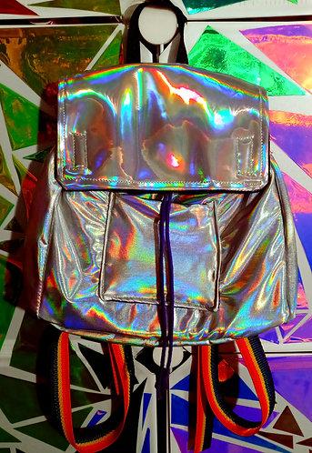 Super holographic mini backpack
