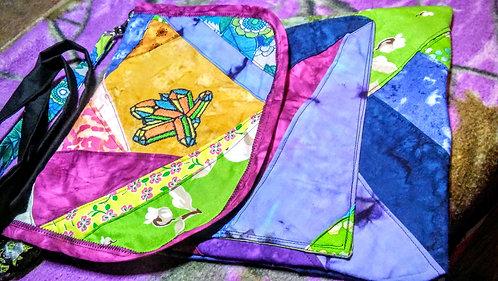 Colorful crystal cluster bag