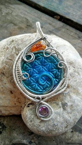 Flower of life hybrid pendant