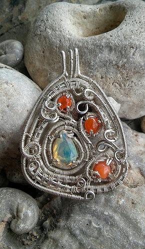 Ethiopian opals in sterling silver