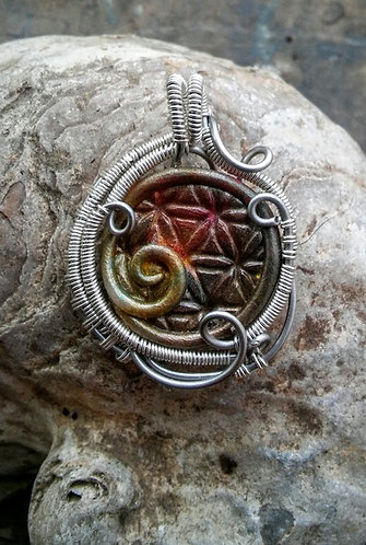 Hybrid flower of life wire wrap