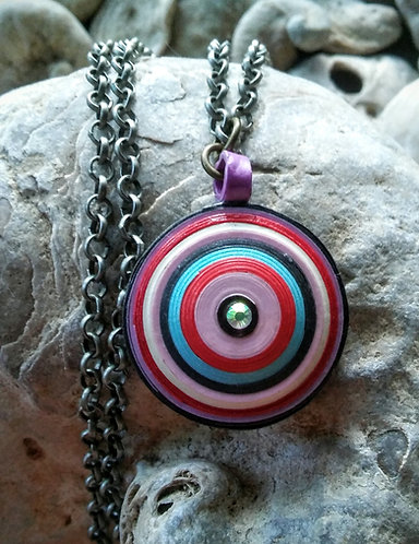 Pink droplet pendant