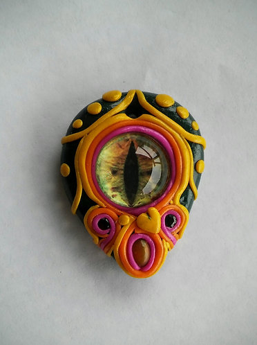 polymer clay eye pendant