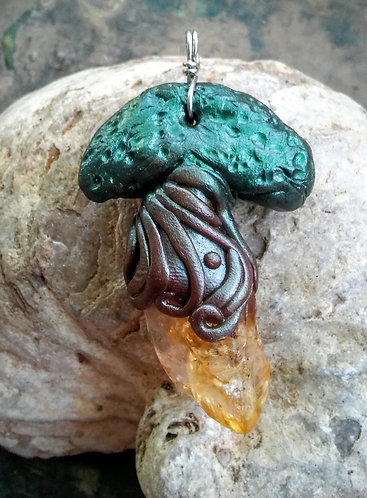 Citrine tree pendant