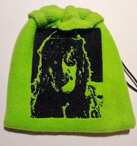 Old Gregg fleece drawstring bag