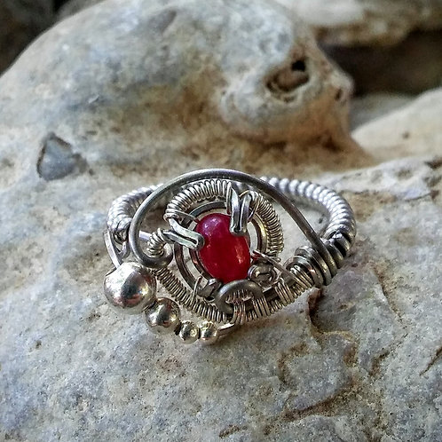 Size 7.5 ruby ring