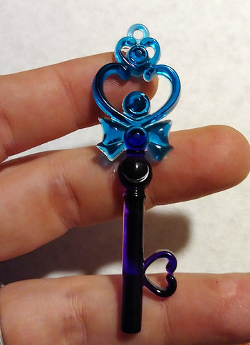 Blue and purple key
