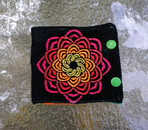 Corduroy mandala wallet