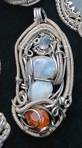 Discounted Super mix wire wrapped pendant