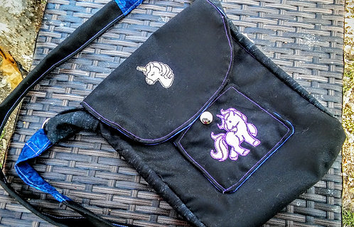 Triple unicorn purse
