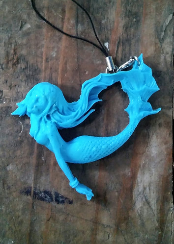 blue mermaid charm