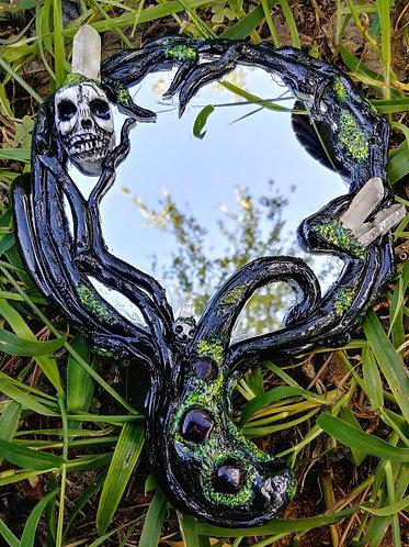 Tree of life hand mirror