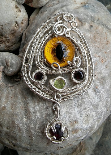 Sterling silver eye wrap