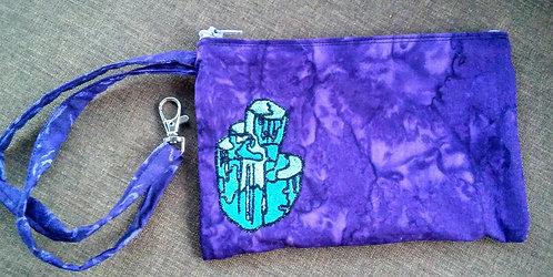 Aquamarine clip bag