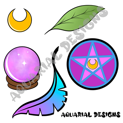 Nature witch digital icon pack
