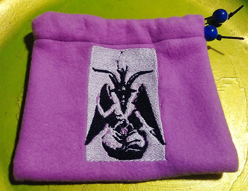 Purple Baphomet drawstring bag