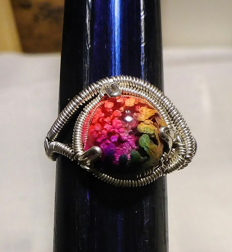 Size 6 rainbow ring