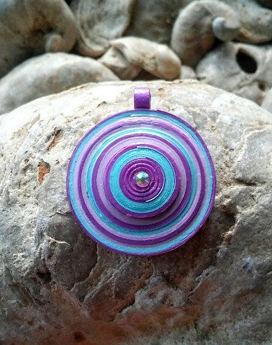 Large purples disc pendant