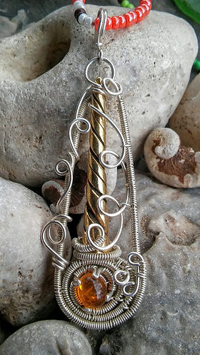 Sterling silver unicorn horn pendant