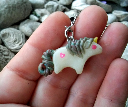 Tiny unicorn charm
