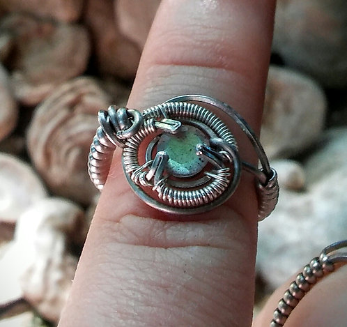 labradorite ring and pendant set for apple