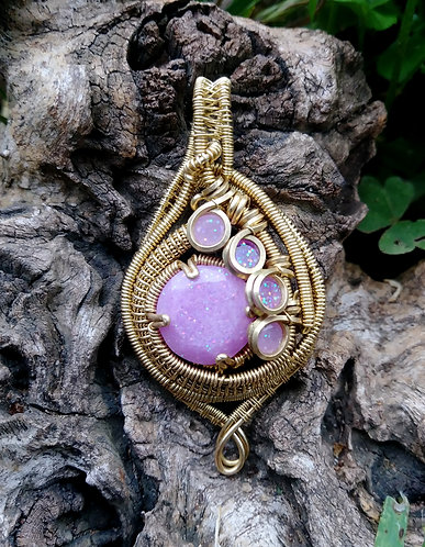 Color changey brass wire wrap
