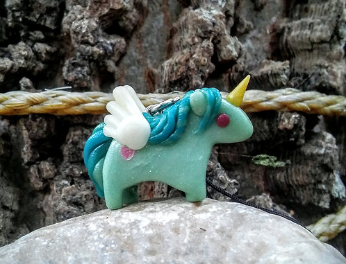 Tiny pegasus unicorn charm