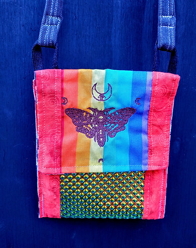 Rainbow death moth bag