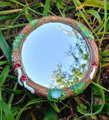 Rainbow drop snail mini mirror