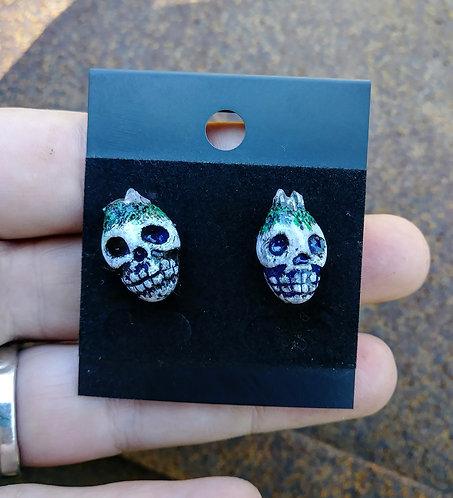 Skull earrings 4