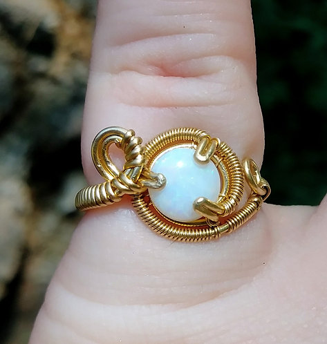 Australian opal size 6 ring