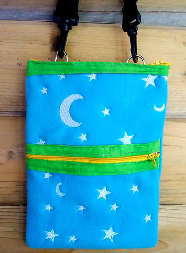 Medium sized glow in the dark star and moon bag