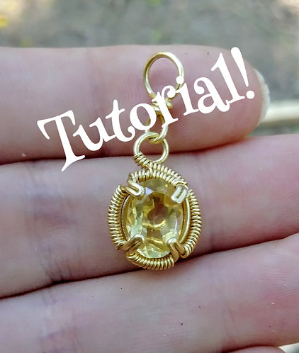 Wire wrapped spiral prong tutorial