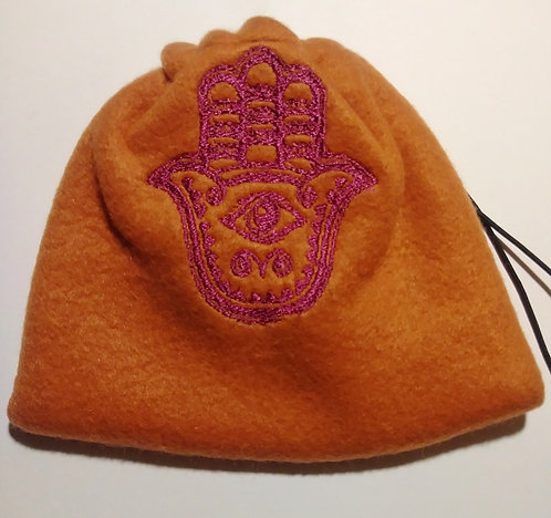 Hamsa fleece drawstring bag