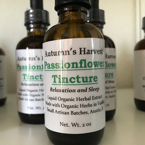 Passionflower Tincture - 2 oz Vodka Infusion
