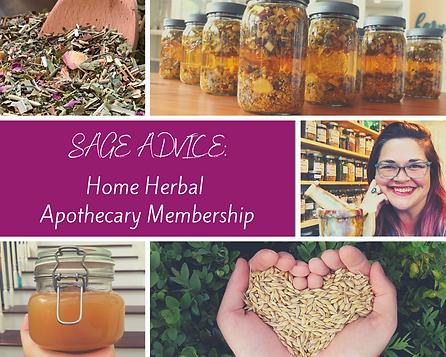 Sage Advice Herbal Apothecary Membership