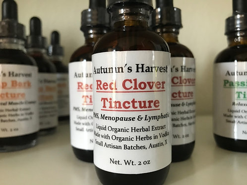 Red Clover Flower Tincture - 2 oz Vodka Infusion